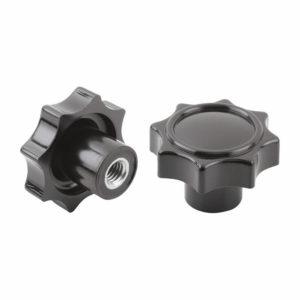 Sterngriff hochglaenzen daus duroplastischem Material massiv mit Gewindebolzen