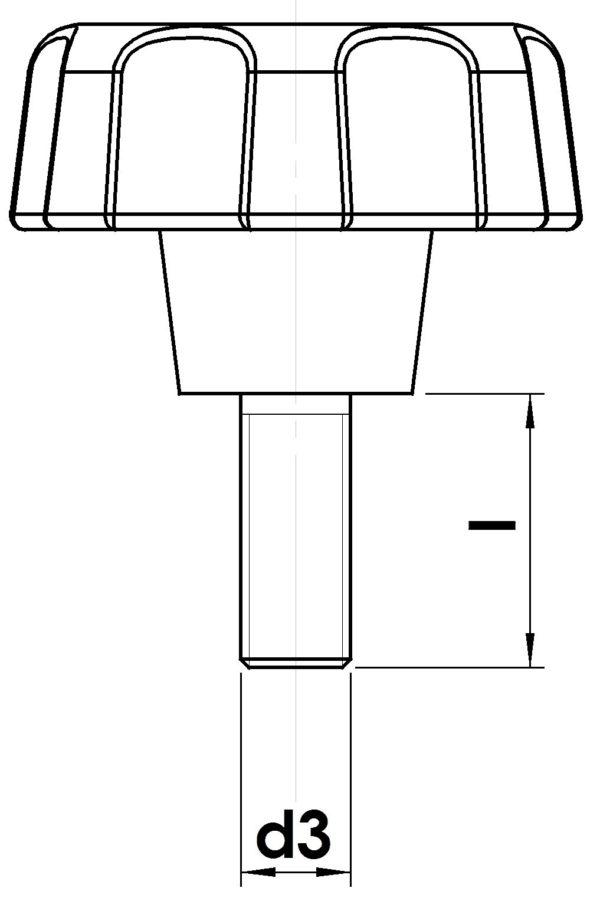 Technische Zeichnung Bolzen EH2200