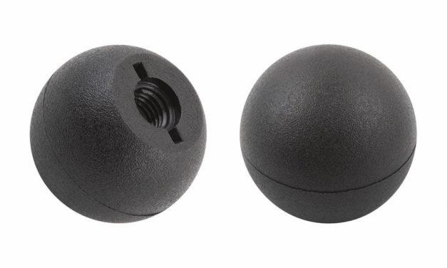 Kugelknopf DIN 319 C matt Kunststoffgewinde