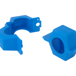 Security clips blue Qn2.5 Qn6 made from polypropylene for water meters and gas meters