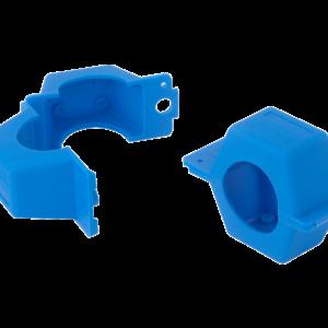 Plombierschellen blau Qn2,5 Qn6 aus Polyprophylen für Wasserzaehler und Gaszaehler