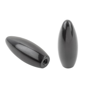 Baling handle, transparent, made from solid thermoset Bakelite material with plastic thread
